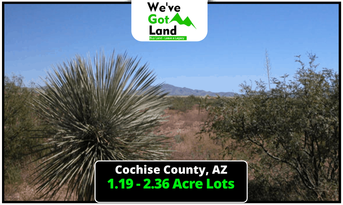 5 Lots Available in Cochise County, AZ!