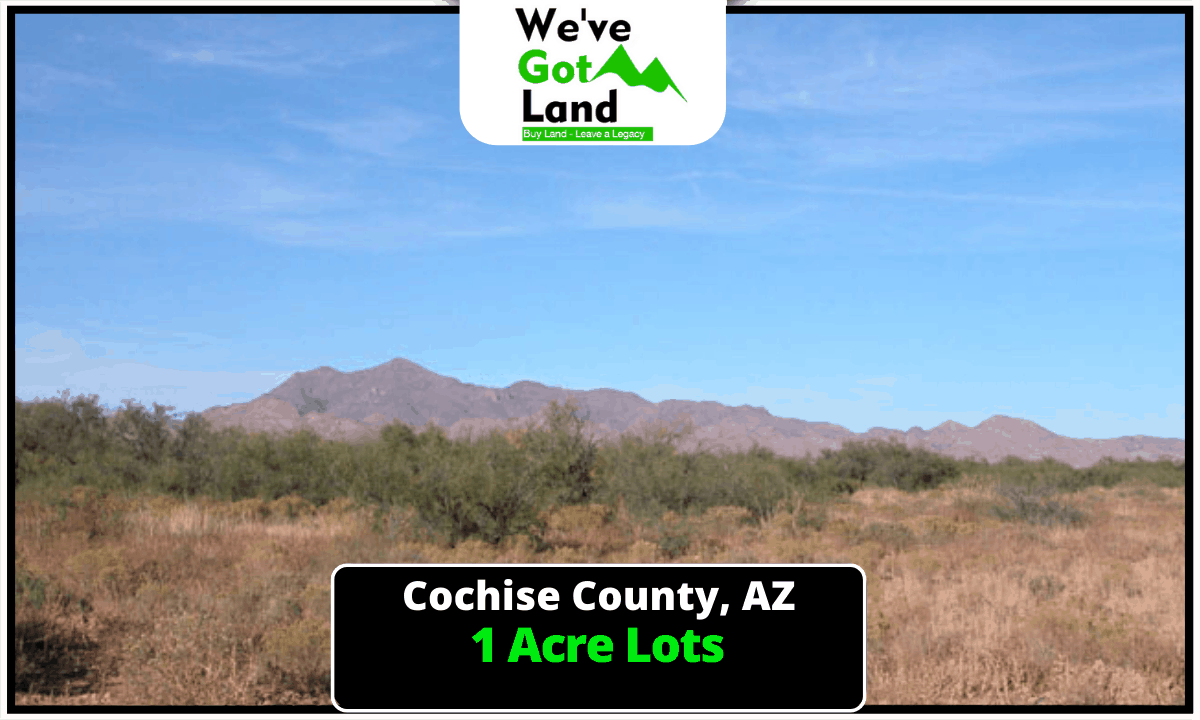 5 One Acre Lots Available in Cochise County, AZ!